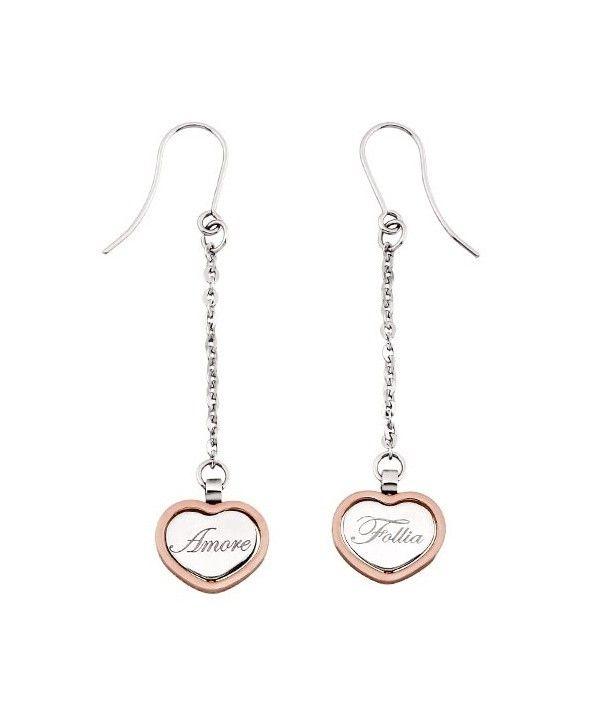 Orecchini 2 Jewels in Acciaio con Cuore Twice 261090