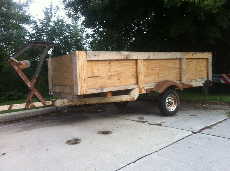 100 Upcycled Trailer Made From Old Boat Trailer And