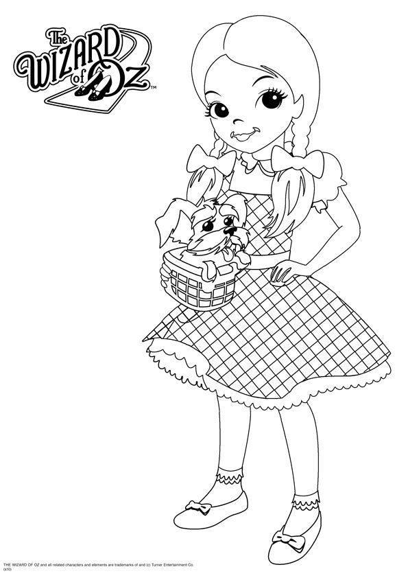 free wizard of oz printables   wizard of oz coloring 13 595×842