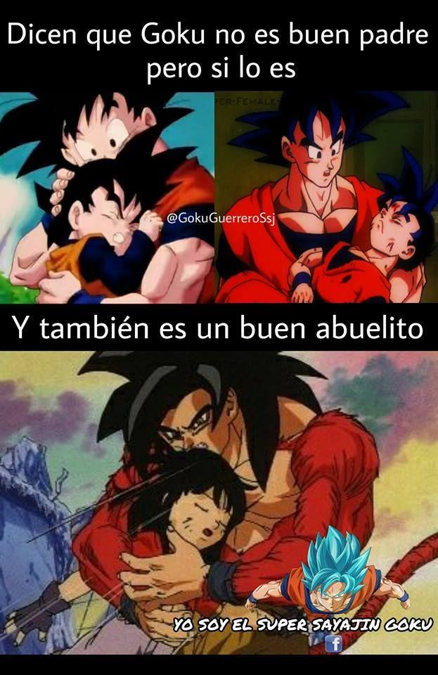 Goku, buen padre y buen abuelo