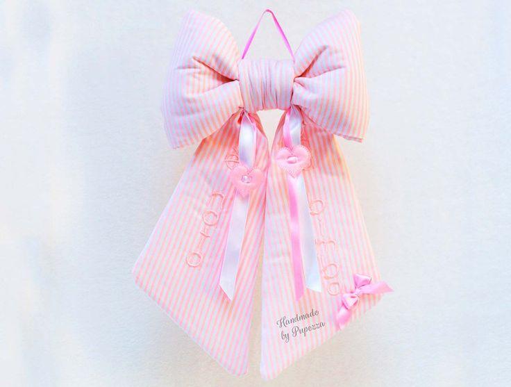 fiocco nascita classico rosa   di pupezza su DaWanda.com