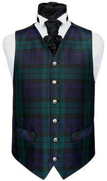 Black Watch Tartan Waistcoat
