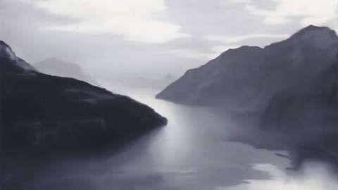 """Erhabenes Grau: Gerhard Richters """"Vierwaldstättersee (Lake Lucerne)"""" aus dem Jahr 1969 ist 120 mal 150 Zentimeter groß (Christie's, Taxe 10 Millionen Pfund, verkauft für £ 15.762.500 (€ 21.314.114))."""