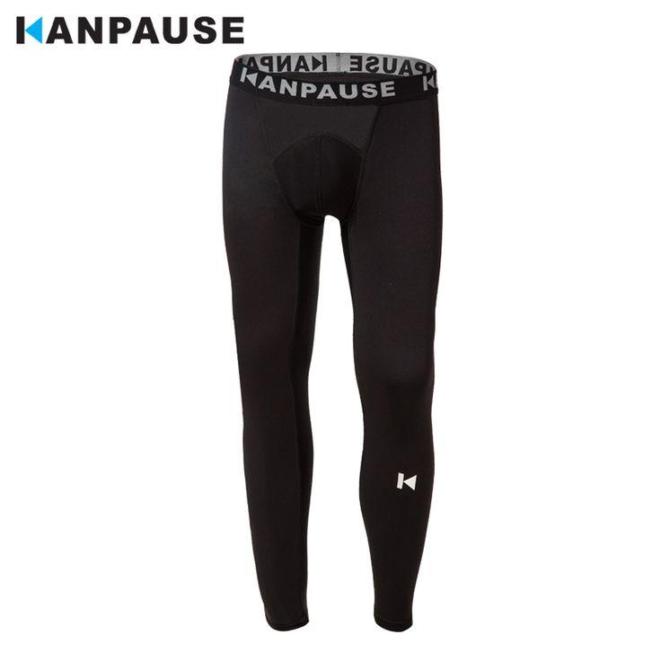 New Arrival  KANPAUSE Men's Tights Yoga Pants Running Training Pants Sportswear