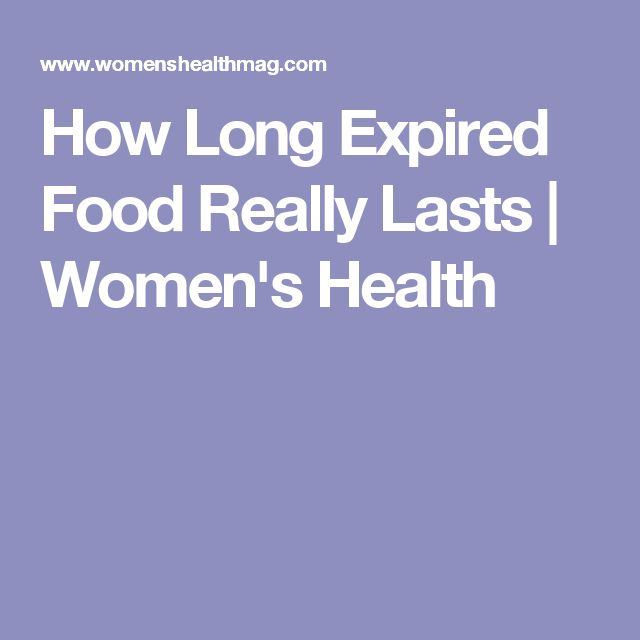 How Long Expired Food Really Lasts | Women's Health