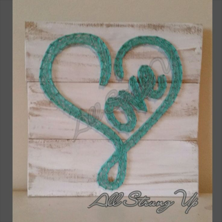 Thanks for looking. Love in Aqua String Art, Made by hand with love in NSW, Australia. Find the rest of my pictures at the following places.  Find my website at www.allstrungup.com.au Find me on Instagram at https://www.instagram.com/all_strung_up/ Find me on Facebook at https://www.facebook.com/All-Strung-Up-915873695199667/?ref=hl