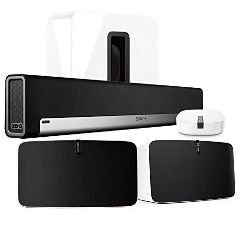 Sonos Multi-Room Digital Music System Bundle (PLAYBAR, (2...
