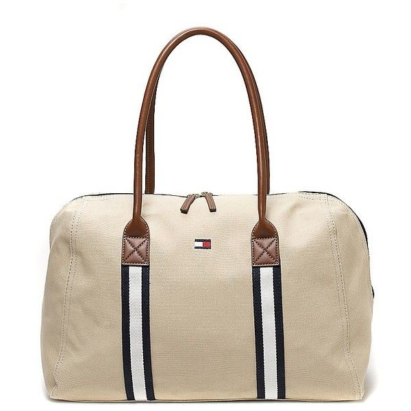 Tommy Hilfiger Weekend Travel Tote (70 AUD) ❤ liked on Polyvore featuring bags, handbags, tote bags, tommy hilfiger, tommy hilfiger purses, travel totes, canvas handbags and canvas purse