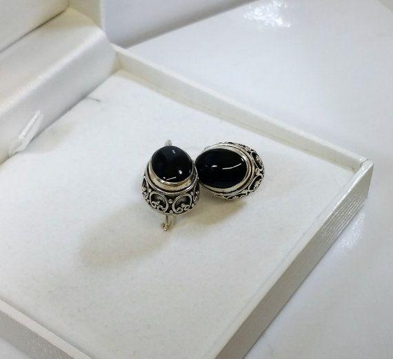 Ohrringe Ohrhänger Nostalgie Onyx Silber 925 SO169 von Schmuckbaron