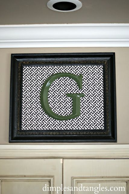 Dimples and Tangles: FRAMED INITIAL ART