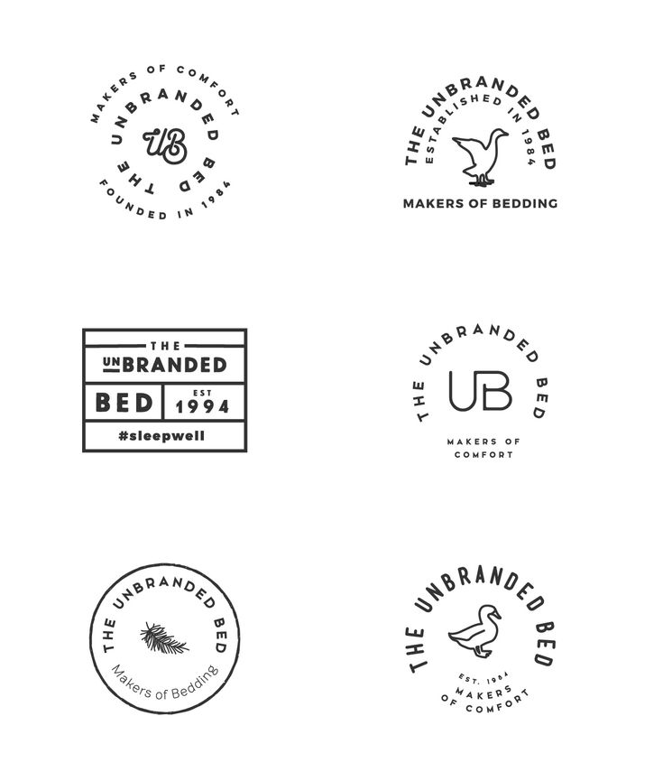 Minimal logo concepts, minimalistic, minimalist, badge, vintage, line, circle, branding, brand, black and white, feather, duck, goose, down, bedding, bed, simple, clean, brand board, branding, typography