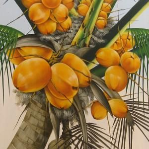 Lukisan Pohon Kelapa