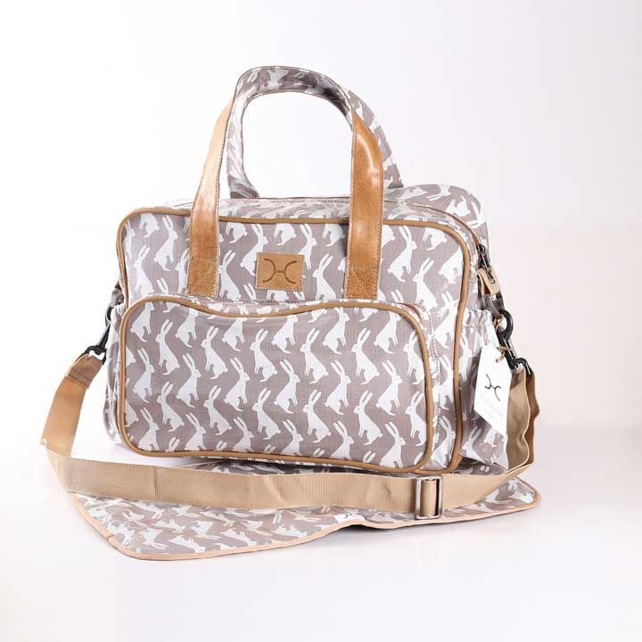 Hip Hop White on Silver Nappy Bag