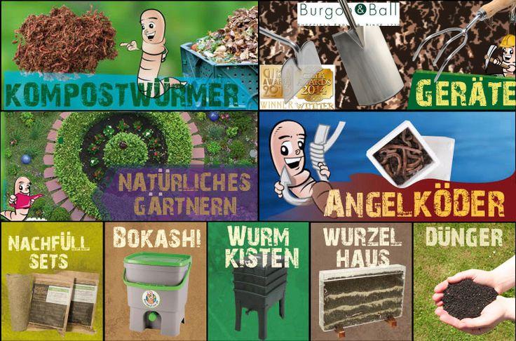 Online Shop für Wurmkisten mit Kompostwürmern, Regenwürmer und Bokashi-Wurmwelten.de #Kompost #komposthaufen