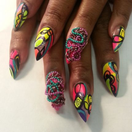 33 best wild and sassy images on pinterest art nails elegant designs for long or stiletto nails long nails oval nails stiletto nails prinsesfo Images