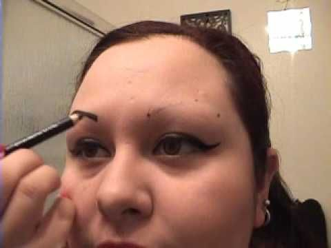 How To Draw On Eyebrows W/O Starter Hairs - YouTube