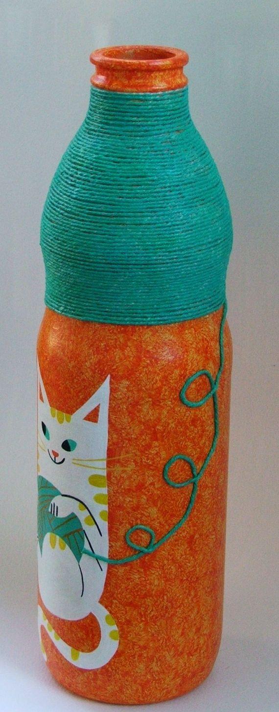 Botella pintada - Adornos - Casa - 796027