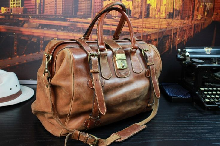 J. Peterman Vintage Tan Leather Safari Duffle Travel Gladstone Holdall Bag Mens | Clothing, Shoes & Accessories, Men's Accessories, Backpacks, Bags & Briefcases | eBay!