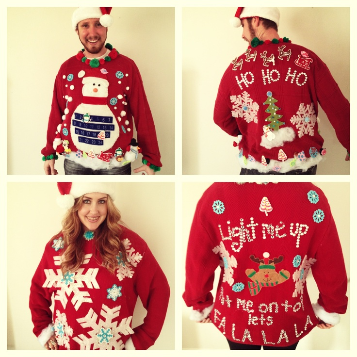 Ugly christmas sweaters homemade