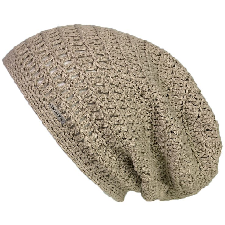 """Large Slouchy Summer Beanie - This over-sized """"LIGHTWEIGHT"""" beanie is great for the modern slouchy look. The small ribbed headband provides a comfortable grip on the head and can be worn both pulled b"""