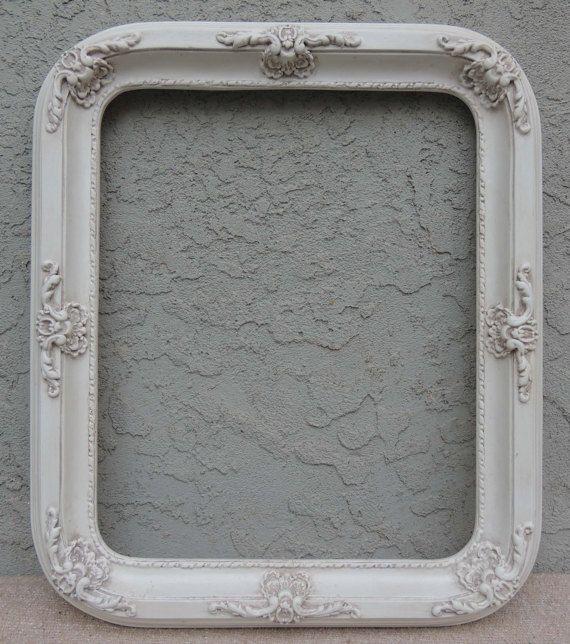 Reserved Picture Frames 16 X 20 Frame Ornate Vintage White Gallery Fl Shabby Chic