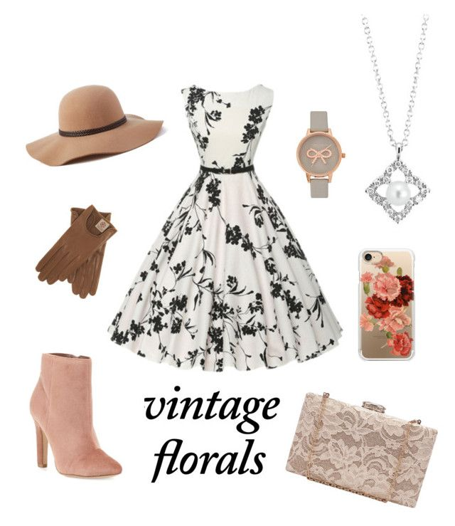 """Vintage Florals"" by jessicaadawn on Polyvore featuring Casetify, Olivia Burton, Blue Nile, Joie, Scala, vintage and vintageflorals"