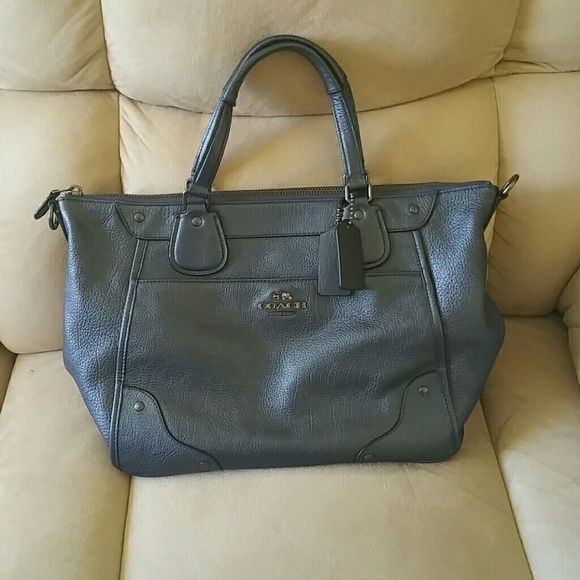 NWOT Blue Coach Satchel NWOT Blue Coach Satchel! In perfect condition! Only used once! No flaws at all! Comes with crossbody strap Coach Bags Satchels