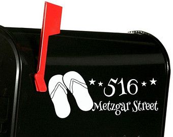 Custom Mailbox vinyl lettering Decal - Receive (2) one for each side. Customize your mailbox with your choice of vinyl color and font style from our chart. We all still receive snail mail, so why not make that box pretty! 10 Long X 3 tall - Color Choice - street Address - Choose a Font or combo of fonts  [CHOOSING COLOR] Please view our color chart picture to choose your colors. During the checkout process a box called Message to Seller will be available to type in your color choice, notes, o...