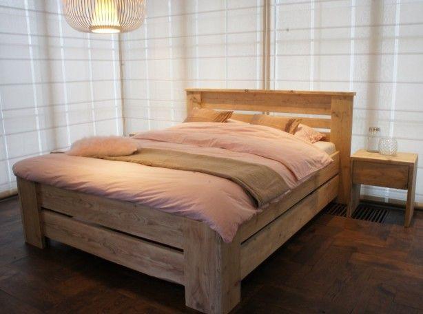 STEIGERHOUTEN BED | pallethout | Pinterest | Bedrooms