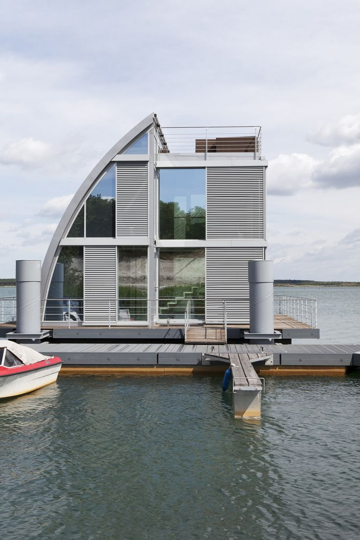 Best Houseboat Homes Images On Pinterest Houseboats Boat - Awesome floating house shore vista boat dock by bercy chen studio