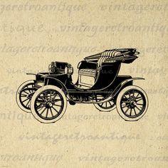 Antik Buggy Autó Digital Graphic nyomtatható Antik Automobile Kép letöltése Vintage Clip Art.  Nagy felbontású digitális grafikai illusztráció vas matricák, nyomdai, cipel táskák, pólók, papercrafts, kéztörlők, és még sok más.  Nagy használatra, divat elemeket.  Ez a digitális kép nagy és jó minőségű, a méret 8 ½ x 11 hüvelyk.  A háttérben futó png verzió is bekerül.