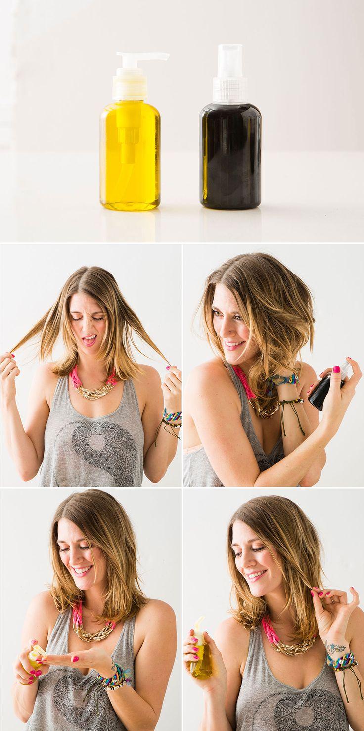 These are essential hair hacks. | Beauty | Diy hair serum ...