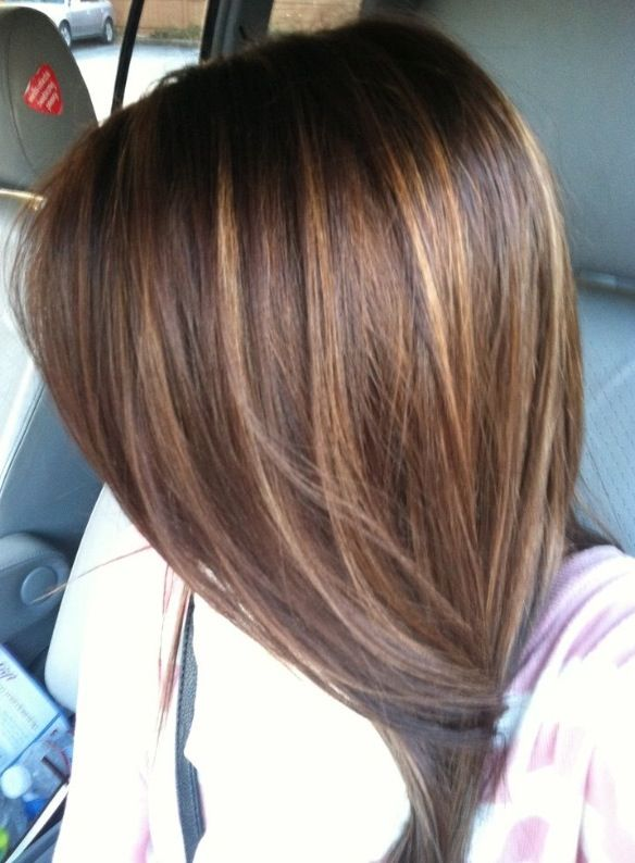 in love with this hair color ! brown hair with light brown ...