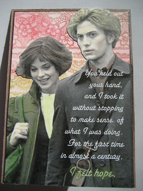 "Twilight Couples: Alice & Jasper ATC ""I Felt Hope"" by Spencerette, via Flickr"