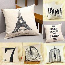 Retro Simple Cotton Linen Pillow Case Sofa Home Decor Throw Square Cushion Cover