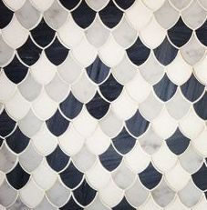 Scalloped Tile Pattern for the bathroom