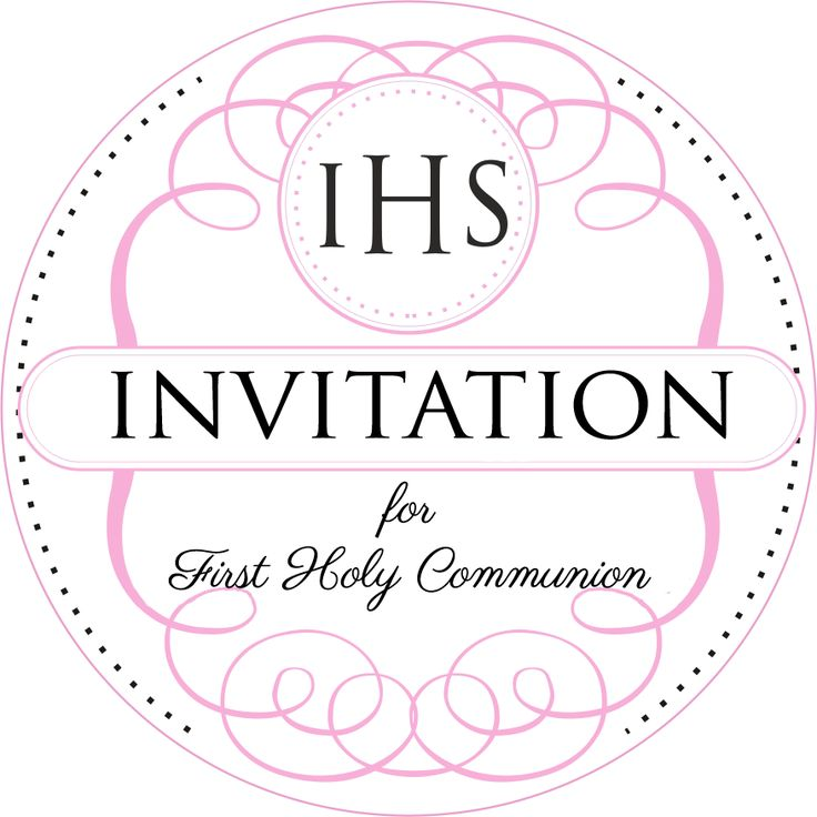 25 Invitation to the First Holy Communion