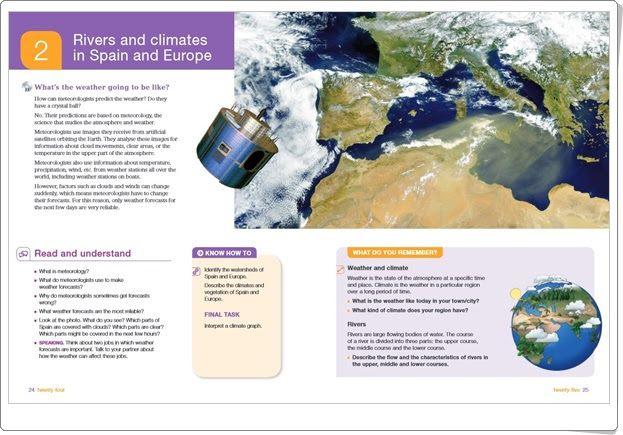 """Unidad 2 de Social Science de 6º de Primaria: """"Rivers, climates and vegetation of Spain and Europe"""""""