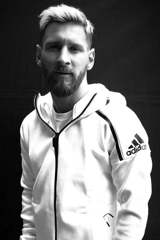 Lionel Messi Wearing Adidas Zne Hoodie Lionel Messi