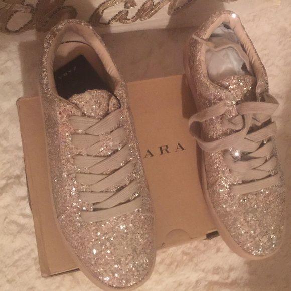 3f71da95fbc Zara Shoes - SOLDNWT ZARA SPARKLE Glitter SNEAKERS Size 6