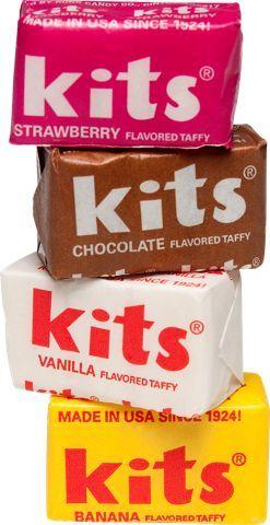 the packaging! & colors! Kits Taffy Candy | 1.5 lb Bag | Chocolate, Strawberry, Vanilla, Banana