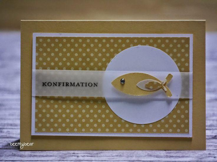 stampin with beemybear: Karten/Einladungen zur Kommunion und Konfirmation