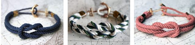 diy gorgey nautical knot bracelets. must do this before summer!