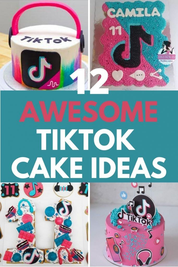 12 Tiktok Cake Ideas Recipes Tutorials Tips And Supplies Colorful Birthday Cake Happy Birthday Cake Topper Happy Birthday Cakes