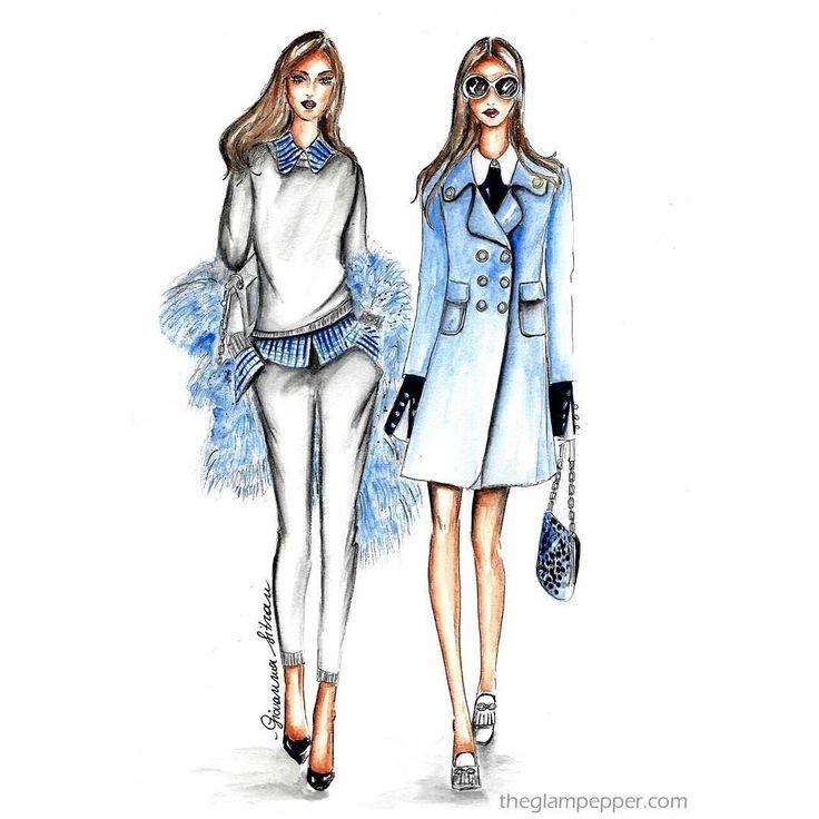#Buongiorno e buona #domenica! Quella di Michael Kors è una delle mie collezioni preferite! . . #michaelkors #fashionillustration #illustration #goodmorning #sunday #glam #fur #fauxfur #illustrazione #bozzetto #moda #fashionblog #fashionblogger #watercolor #instaart #instafashion #fashiondraw #draw #disegno #pencildraw #picoftheday #giovannasitran #glam #girl #style www.theglampepper.com