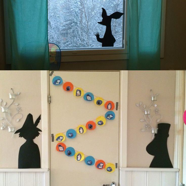 Muumi-teemaiset synttärit. Muumivarjot.  / Moomin themed birthdayparty. Moominshadows.