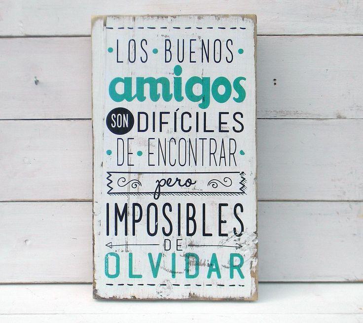 Letreros vintage amigos | LOS BUENOS AMIGOS... - ONDECO