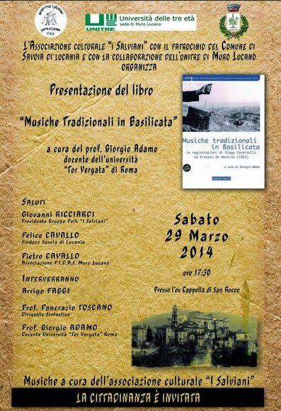 Unitre di Muro Lucano: Presentazione del libro Musiche tradizionali in Ba...
