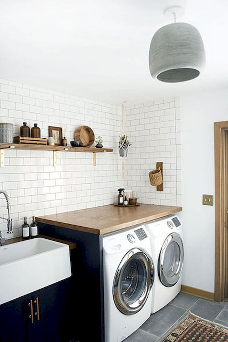 19 Scandinavian Laundry Room Design Ideas For Your Apartment Modern Laundry Rooms Laundry Room Decor Small Laundry Rooms