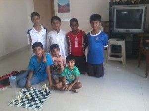 The boys after a game of chess